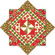 The Christmas Star cream/red project - Kensington Studio